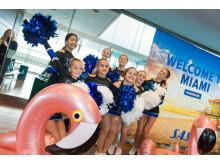 Cheerleaders på Arlanda