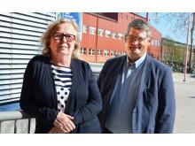 Paula Wennberg och Jan-Olov Johansson Centrum för distansöverbryggande teknik (CDT)vid Luleå tekniska universitet.
