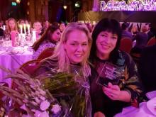 Pristagaren Ulrika Sohtell, marknadschef NetOnNet och Carola Tiberg, reklamchef NetOnNet  var på plats i Berns Salonger 19:e oktober för att ta emot hedersutmärkelsen Sveriges Bästa Marknadschef 2017
