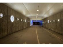 Karlbergstunneln utsmyckad med motiv Från Rörstrand