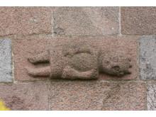 Billedkvader af kronefigur, Måbjerg Kirke, Danmarks Kirker