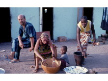 Gudrun Schyman i Gambia 1980 Foto Lasse Westman
