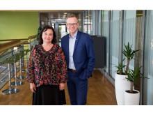 Bolagsverkets generaldirektör Annika Stenberg och Mikael Damberg, närings- och innovationsminister.