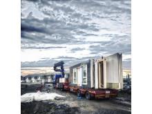 Elementleveranse til byggeplass