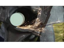 Norton rak pneumatisk slipmaskin - Användning