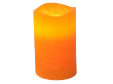 Blockljus Stearin LED orange