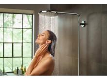 hansgrohe Raindance PowderRain hovedbruser på Showerpipe