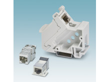 RJ45 socket modules for data transmission