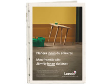Planera innan du snickrar. Men framförallt, jämför innan du lånar, med Lendo.