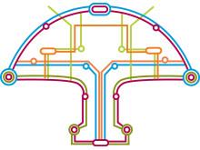 Illustration svamp tunnelbana