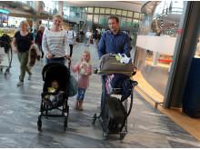 Barnevogner ved Oslo Lufthavn