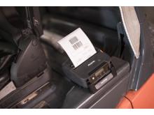Brother RJ4000 printer montert i transportkjøretøy
