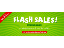 Grab our cheapest ever fares in our five day flash sale