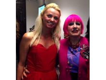 Natasha Godbold and Zandra Rhodes