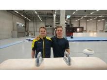 David Rumbutis och Kim Wanström EM i manlig artistisk gymnastik 2016