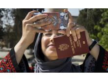 Faten Mahdi Al-Hussaini som turist i Jerusalem