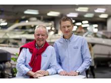 Bengt Wallin och Jacob Ryder mycket nöjda med årets Båtmässa.