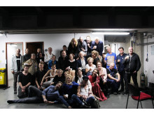 Ensemblen på turné med Fanny & Alexander i Bogotá