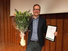 Jacob Ahlsson årets läkemedelsprofil 2017