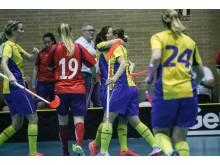 Sveriges damlandslag mot Norge.