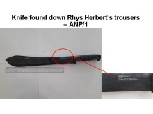 Knife down Herbert's trousers
