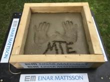 Einar Mattssons gjutning Rissne - Mikael T Erikssons handavtryck