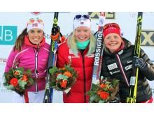 Vinnerne på pallen stafett kvinner, NM 2016