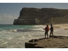 Fiskare vid Cape Point