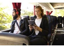Supersurf ombord på Swebus nya bussar