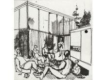 Byggekunst. Gunnar S. Gundersen, Livet i Planetveien, 1952 – 55