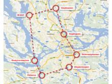 Karta över Addnature Urban 7 Summits