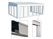 Drömma med aluminium-beklädnad