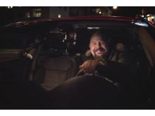 Anders Bagge i bilen