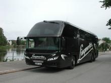 Lingmerths buss kör Svenska Buss linje till Småland