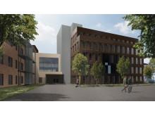 Tønsberg nye sykehus ambulanseinngang