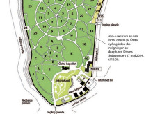 Karta Östra kyrkogården