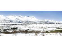 Vinterbilde av VHSS sin beliggenhet ved Sjunkhatten nasjonalpark
