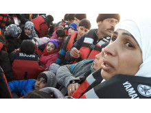 TURKIET - Familjen Mohammad under ett av deras manga försök att fly över Medelhavet till Grekland.