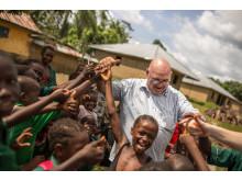 Morten Lønstad på prosjektbesøk i Port Loko i Sierra Leone