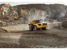 Volvo A60H dumper i stenbrott