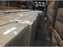 Pallets containing more than eight million counterfeit cigarettes