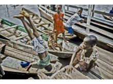 Children in Ganvie, Benin