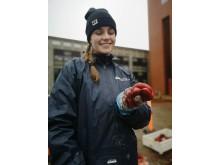 Formidler og biologistuderende Melanie Brauckhoff med et organ