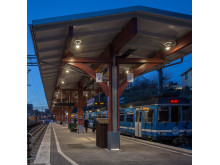 Belysning på Östra Station bild 7