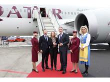 Qatar Airways premiärlandar på Landvetter