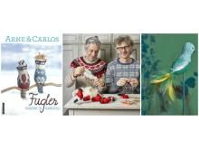 Arne og Carlos er aktuelle med boka Fugler - fargerike og fantasifulle.