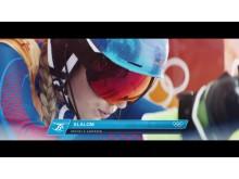 Kampania reklamowa Visa na Zimowe Igrzyska Olimpijskie PyeongChang 2018 - screen ze spotu_Mikaela Shiffrin 1