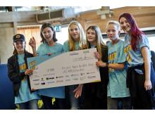 Aspåsskolan tog hem förstapriset och fick en prischeck till klassen på 15 000 kronor.