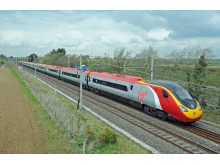 Virgin Pendolino in countryside