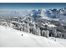 Skitour am Furggelenstock mit Blick Richtung Oberiberg